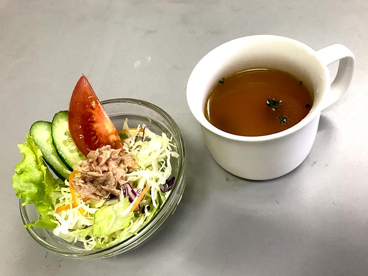 ミニサラダ・スープ